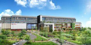 オフィスとショッピングセンターの複合施設「ノリタケの森プロジェクト(仮称)」の完成イメージ図