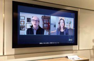 CES2021では各企業の展示、基調講演などがすべてオンラインで実施された。画面右はベストバイCEOのコリー・バリー氏