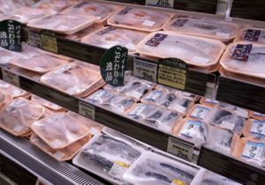 鮮魚売場の冷凍商材