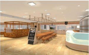 阪急うめだ本店にオープンする「コミューナルフードマーケット」の完成イメージ