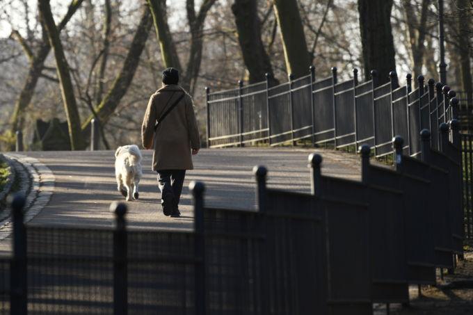 ベルリンの街を歩く人