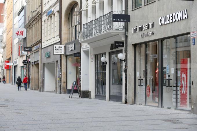 ドイツ・ミュンヘンのショッピング街
