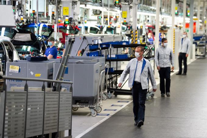 ドイツのフォルクスワーゲンの工場