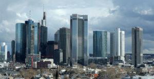 独フランクフルトの金融街