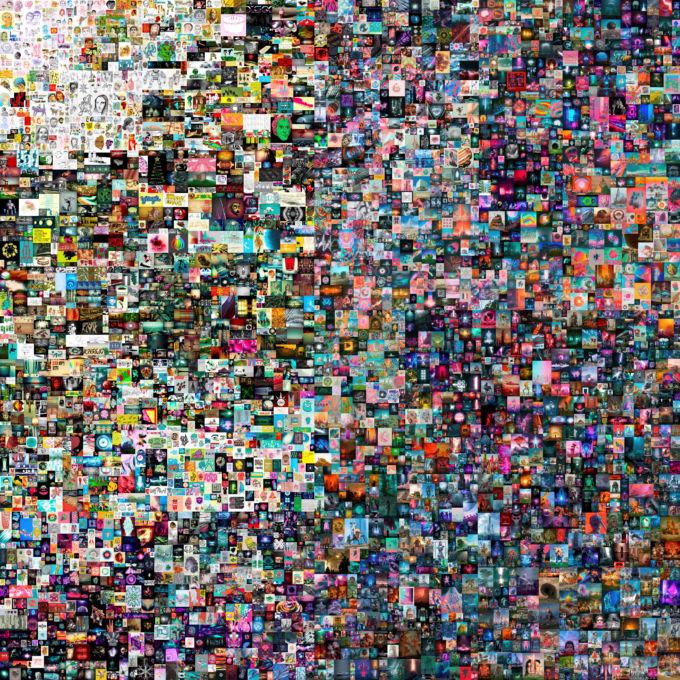 デジタルアート作家「ビープル」ことマイク・ウィンケルマン氏によるコラージュ作品、「EVERYDAYS: THE FIRST 5000 DAYS」