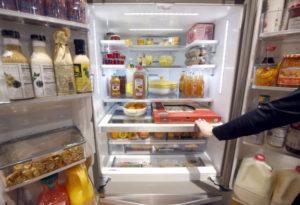 ラスベガスでの見本市で撮影されたワールプールの冷蔵庫
