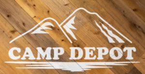 コーナン商事のキャンプ専門店「CAMP DEPOT」のロゴ