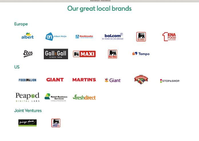 アホールド・デレーズが展開するブランドのロゴ