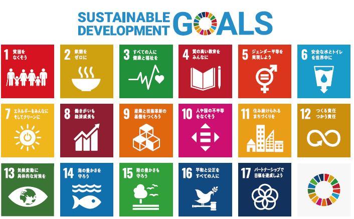 扌17項目にわたる持続可能な開発目標(SDGs)