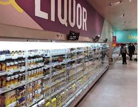 食品スーパーの店内