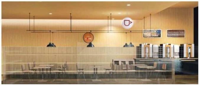 中部薬品が出店したカフェ併設のドラッグストア「ブイドラッグ大須店」の店内イメージ