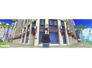 バーチャル空間に再現された伊勢丹新宿本店とアバター