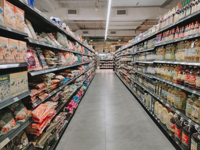 スーパーの売り場