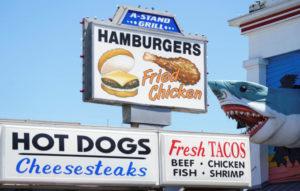 米メリーランド州のファストフード店の看板