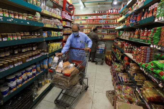 パキスタンの食品販売店