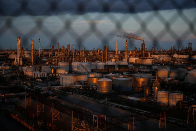 テキサス州の工場地帯