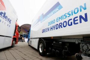 スイスのルツェルンで撮影された水素エネルギーのトラック