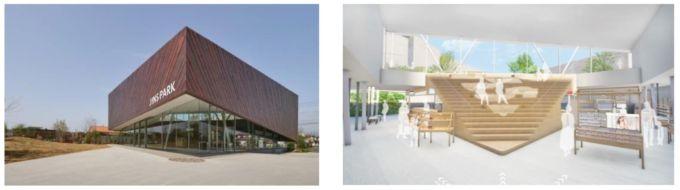 「JINS」初のベーカリーカフェを併設した複合施設「ジンズパーク(JINS PARK)」の完成イメージ