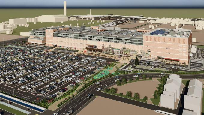 大型ショッピングセンター「セブンパーク天美」完成イメージ