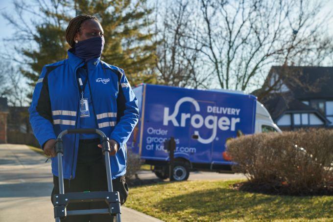 クローガーのトラックと従業員