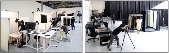 ファーストリテイリングの有明本部の一部を改装したスタジオ