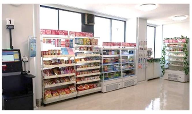 マックスバリュ西日本が広島微笑専門学校校内に出店したキャッシュレス決済専用の無人店舗