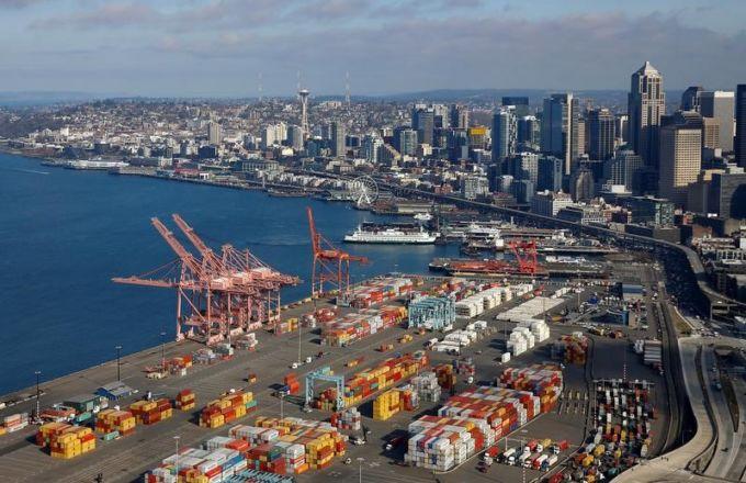 シアトルの港湾施設