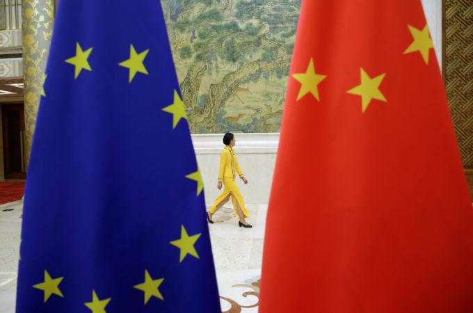 EUと中国の国旗