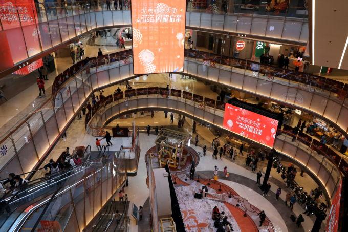 北京市内に新設されたショッピングモール