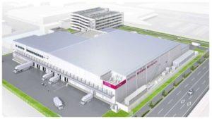 マックスバリュ西日本の複合型プロセスセンター「岡山総合プロセスセンター」完成イメージ