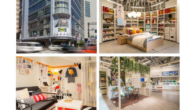 「IKEA新宿店」の店内と外観