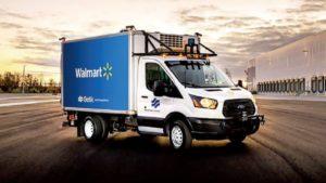 ウォルマートとガティックの無人自動運転トラック