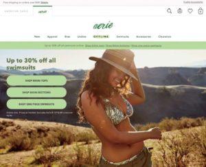 アメリカン・イーグル・アウトフィッターズが展開するボディ・ポジティブ志向に対応した下着ブランド「エアリー」