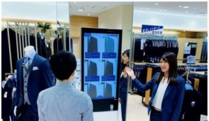 青山商事の「デジタル ラボ」導入店舗