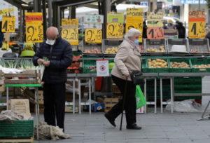 仏ニースの市場