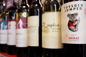 北京の小売店に並ぶ豪州産ワイン