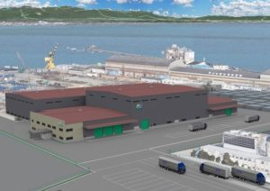 セブン&アイHDのペットボトル再生工場の完成予想図