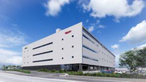 楽天グループが福岡県粕屋町に新設する「Rakuten Fulfillement Center Fukuoka(仮称)」の外観イメージ