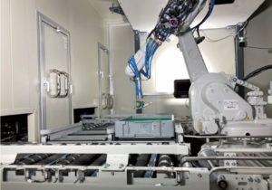 10坪のロボット自動倉庫