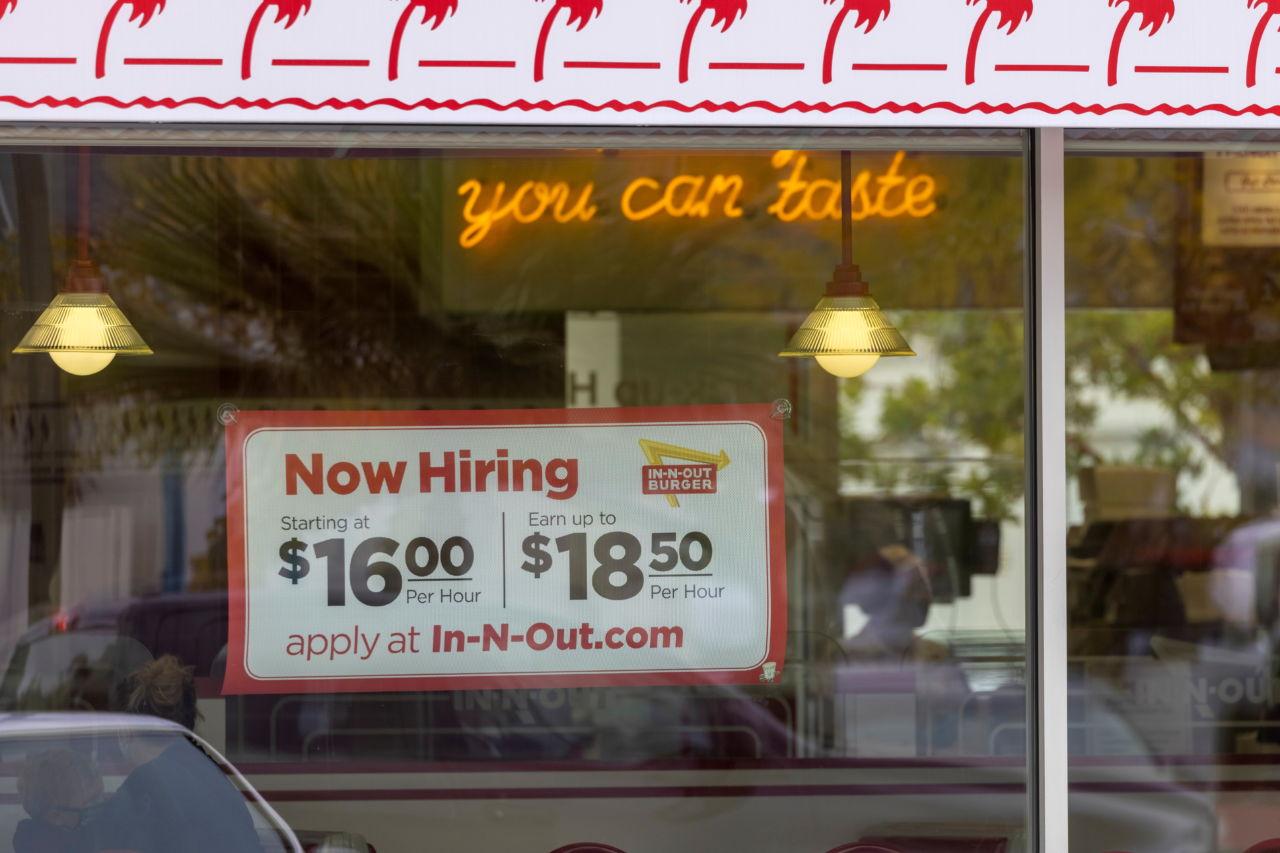 米カリフォルニア州で求人する飲食店