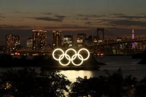 都内にあるオリンピックマーク