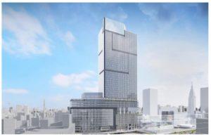 小田急百貨店新宿本館の跡地に建設予定の超高層ビル完成イメージ