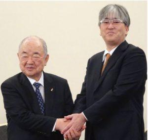 アークス横山社長とオータニの大谷章社長