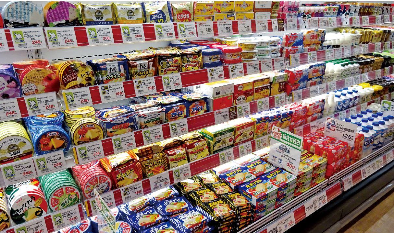 スーパーのチーズ売場