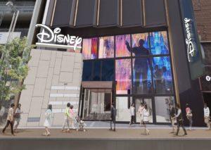 東京新宿にオープンするディズニーストアの旗艦店の完成イメージ