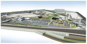 イオンモールが北九州市で開発中の大型SC「八幡東田プロジェクト(仮称)」完成イメージ