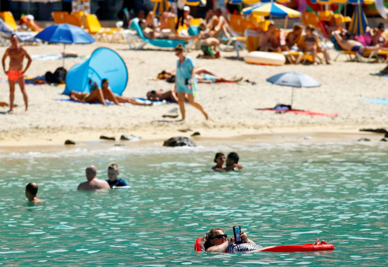 スペインのグランカナリア島の海