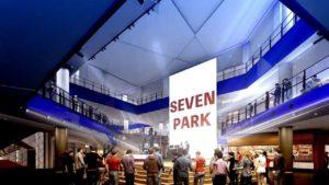 セブン&アイHDが手掛ける大阪府の大型ショッピングセンター「セブンパーク天美」の大型LEDビジョン
