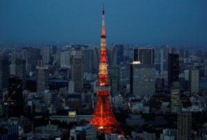 都内の街と東京タワー