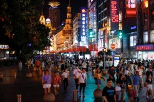 上海のショッピング街